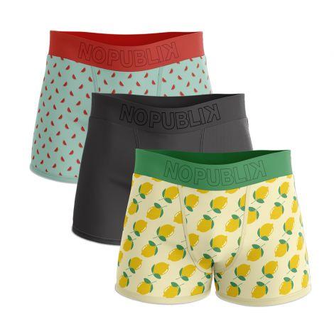 Lot de 3 boxers Watermelon & Lemon