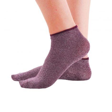 chaussettes lurex bordeaux face